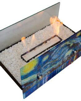 chimenea bioetanol tipo vidrio